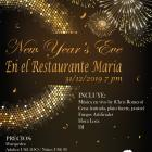 Celebrate New Year's Eve at the Restaurant Maria!