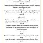 Mother´s Day special menu