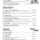 New menu of the Maria restaurant