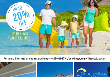 Ocean Village Deluxe: up to 20% off on rentals!