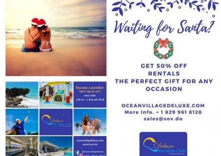 Get 50% off rentals at Ocean Village Deluxe!