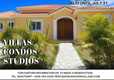 Sosua Ocean Village :скидка 20% на аренду!