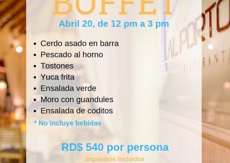 Easter Buffet Menu at Al Porto