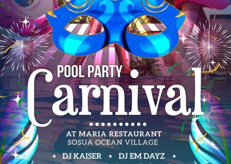 Carnival party at Restaurant Maria