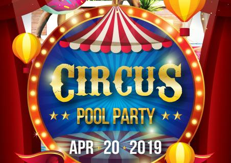Circus Pool Party at Restaurant Maria