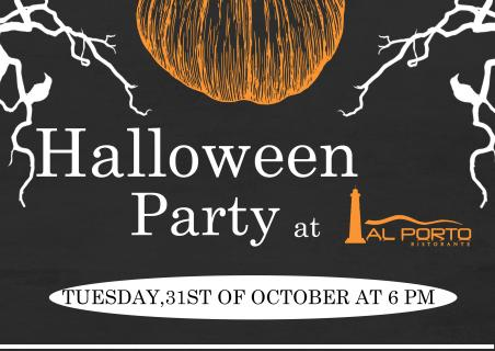 Halloween party at our restaurant Al Porto!