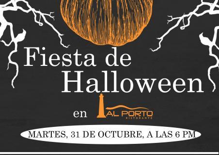 Fiesta de Halloween en restaurante Al Porto!