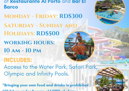 New prices ans working hours of the Club House Al Porto