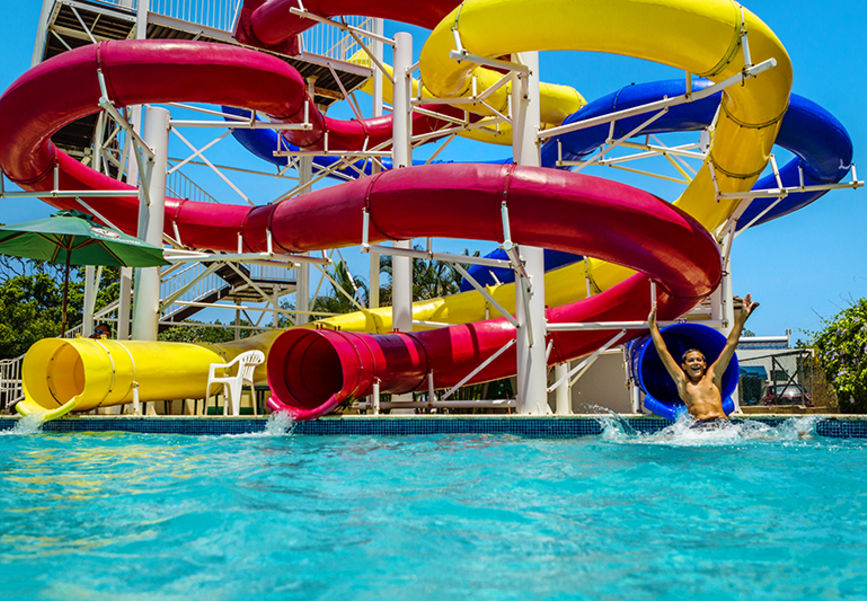 Water park in the Dominican Republic