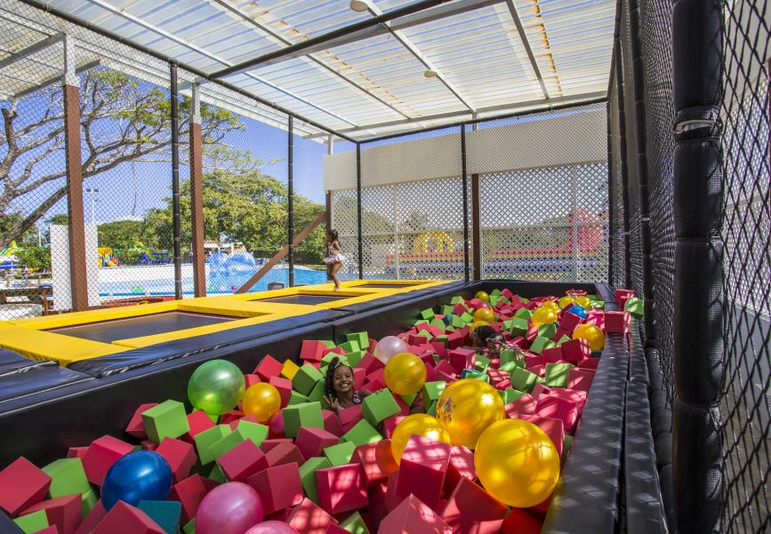 Trampolines at the entertainment center in the Dominican Republic